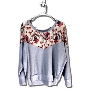 Free People - Mixed Media Sweatshirt - M